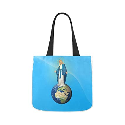 Thanksgiving Christmas Gifts Christian Religious Virgin Mary Women Canvas  Tote Shoulder Bag Reusable Ideal for 68ee3decd