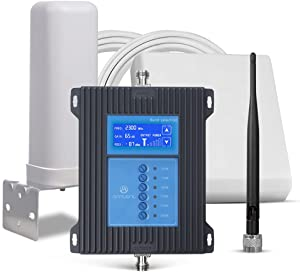 5G Cell Phone Signal Booster for Home and Office-Boosts 4G LTE 3G 5G Data Signal for All Carriers-Multiple Bands 2/4/5/12/13/17 Cellular Signal Repeater with Panel/Omni Antennas-Ready for 5G