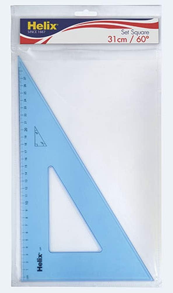 Helix 21cm 45 degree Set Square Box of 25