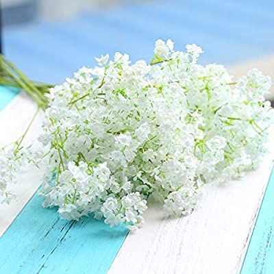 """Hauserlin 20 pcs Baby's Breath Flowers 16"""" Artificial Gypsophila Bouquets Real Touch Flowers for Wedding Home Garden DIY Décor Hotel Table Decoration ..."""