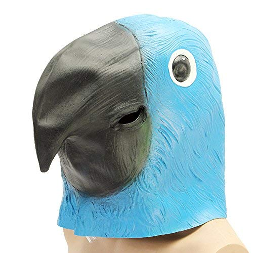 Arch Human Head Face Mask Motorcycle Face Mask - Parrot Bird Mask Creepy Animal Halloween Costume Theater Prop Party Deluxe Latex Anima - Fountainhead Effrontery Psyche Look Mind Aspect -