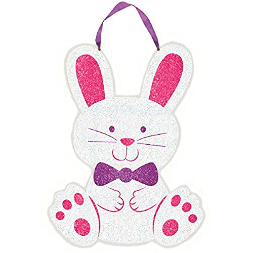Easter Glittery Bunny Hanging Sign, 11