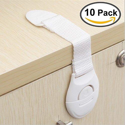CalMyotis® Baby-Sicherheit Sperren, Verriegelungen Tür Schrank Kühlschrank Schublade Sperrt (10 Stück)