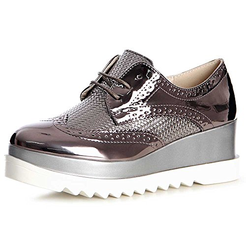 Mocassins Chaussures Topschuhe24 Topschuhe24 Femmes Femmes Gris S7ZqxIxwt