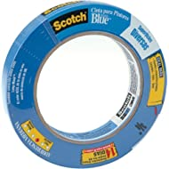 "3M Scotch-Blue 2090 Safe-Release Crepe Paper Multi-Surfaces Painters Masking Tape, 27 lbs/in Tensile Strength, 60 yds Length x 3/4"" Width, Blue"