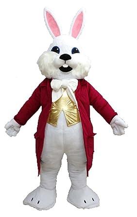 Amazon.com: Aris 100% Real Mascot blanco conejo de Pascua ...