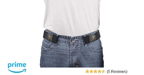 03958f3498d Amazon.com  WERFORU No Buckle Elastic Belt for Men Stretch Buckle Free Belt  for Jeans Pants 1.38
