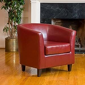 Petaluma Oxblood Red Leather Club Chair