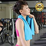 (Hot) Summer Sport - Cooling Towel 80x30cm(Thin version), Cooling Face Towel - Relief Reusable Chill Cool Towel For Running Biking Hiking Gym Yoga Golf Working in Hot Environment