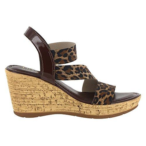 Leopardo Sandalo Con Sandalo Con Zeppa