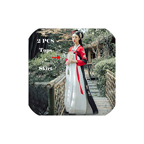 Women Dance Costume Hanfu Traditional Folk Stage