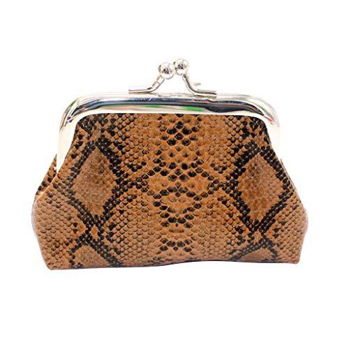 ♖Loosebee♜ Women Retro Snacks Printing Coin Purse Card Holders Handbag Leather Satchel Shoulder Tote Bags ()