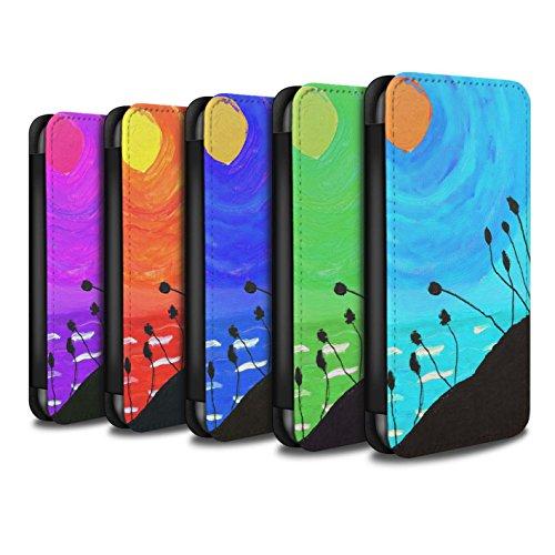 Stuff4 Coque/Etui/Housse Cuir PU Case/Cover pour Apple iPhone SE / Pack 8pcs Design / Peinture Huile Coucher Collection