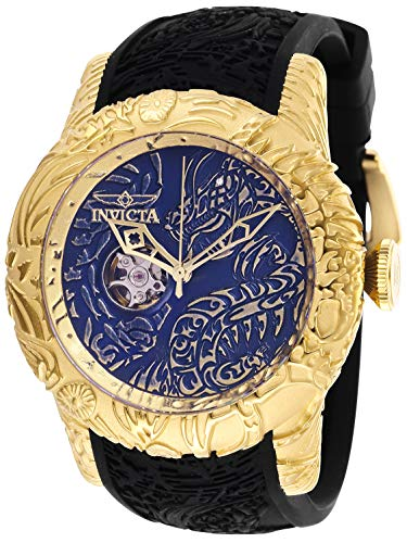 Invicta Men's S1 Rally Stainless Steel Automatic-self-Wind Watch with Silicone Strap, Black, 26 (Model: 26434)