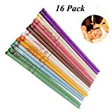 MONTRE 16 Premium Spa Grade Beeswax Candling with 8 Protective Disks (8 Color)