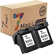 7Magic High Yield Remanufactured Ink Cartridge Replacement for HP 61XL 61 XL Use in Envy 4500 4501 4502 5530 Officejet 4630 4632 4635 Deskjet 1510 1512 2050 2540 2542 3000 3050 Printer (2-Pack Black)