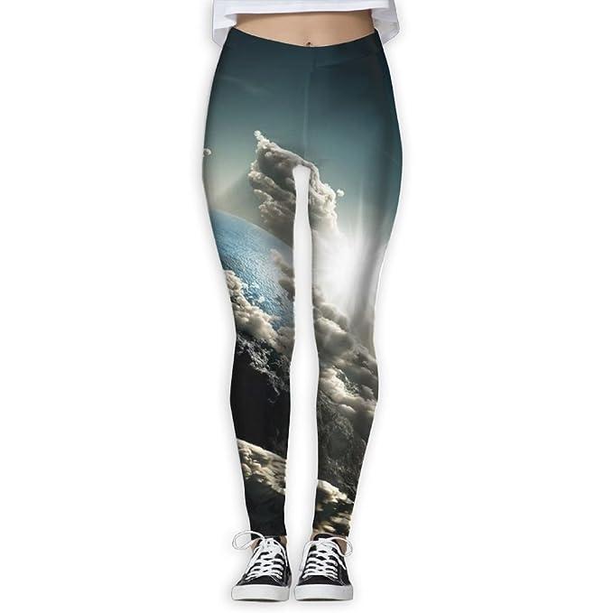 933710a216d87 Amazon.com: Women's Power Multicolor Clouds Earth Yoga Pants Tummy Control  Workout Yoga Pants Leggings: Clothing