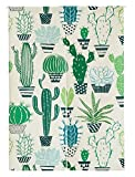 Japanese Noren Doorway Curtain / Tapestry 33.5'' Width x 47.2'' Long with California Forest (Cacti Party)