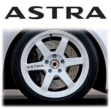 Opel/Vauxhall Astra Alloy 4 x Llanta decorativo para llantas Wheels Stickers Decals Graphics X4: Amazon.es: Coche y moto