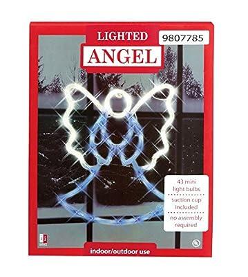 Holiday Lighted Angel Window Decoration