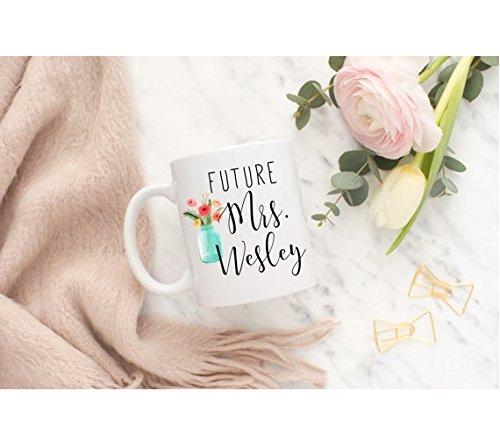 Elvis Presley Black Leather Costume (Future Mrs Mug, Engagement Gift, Future Mrs Engaged Mug, Future Mrs Wedding Mug)
