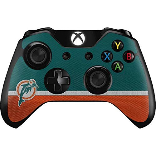 Skinit Miami Dolphins Vintage Xbox One Controller Skin - Officially Licensed NFL Gaming Decal - Ultra Thin, Lightweight Vinyl Decal Protection