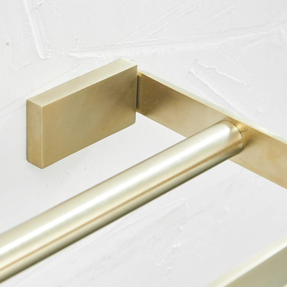 Stainless Steel Robe Hook WOLIBEER Solid Metall Towel Hook Brushed Gold Finished Surface Rustproof Anti-Scratches Wall Hanging Kitchen Toilet