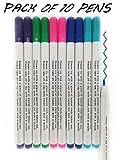 Andaa 10 Pcs Disappearing Ink Fabric Marker Pen