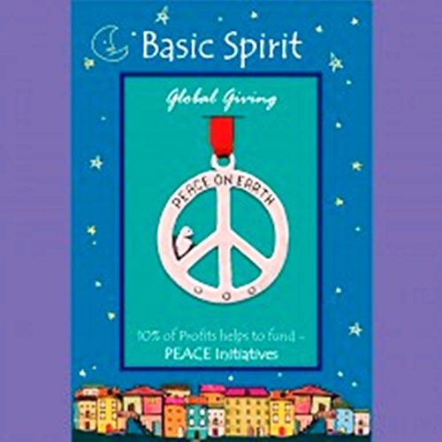 Handmade Pewter Ornament - Peace Sign by Basic Spirit by Basic Spirit