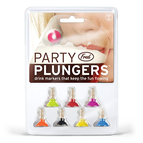 Fred PARTY PLUNGERS Drink Markers, Set of 8 by Fred & Friends (Image #2)