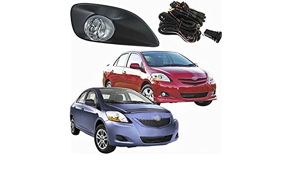 Amazon.com: Auto-Tech Set Kit Fog Lamps Spot Lights For Toyota Yaris Sedan / Belta 2006 ~ 2011 / Vios 2007 ~ 2011 (one Pair): Automotive