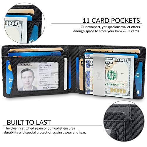 TRAVANDO Slim Wallet with Money Clip AUSTIN RFID Blocking Card Mini Bifold Men 2