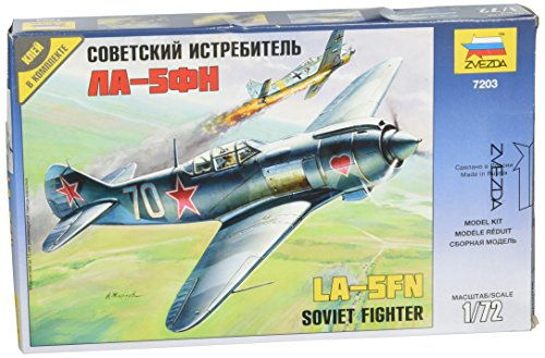 ZVEZDA 7203 Lavochkin La-5FN Soviet Fighter – Plastic Model Kit Scale 1/72 42 Details Lenght 4.25″