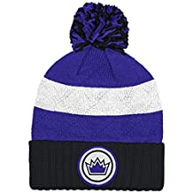 """Sacramento Kings Mitchell & Ness NBA """"Quilted Crown"""" Cuffed Knit Hat w/Pom"""