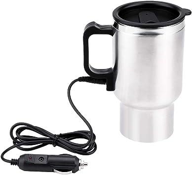 12V stainless steel in-car heated mug Plug In Heated Mug