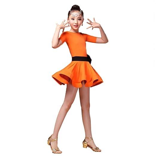 Los niños bailan trajes de vestir Niñas niños Manga corta Spandex ...