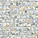Mosaic Tile Spring Flower Ceramic