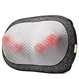 Mynt Cordless Pillow Massager with Heat, Portable 3D Deep Kneading for Neck Back