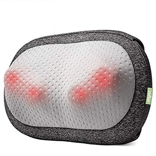 Mynt Cordless Neck Back Massager, Shiatsu Rechargeable Massage Pillow with Heat-3D Deep Kneading, Use Unplugged, iF Design Award Winner