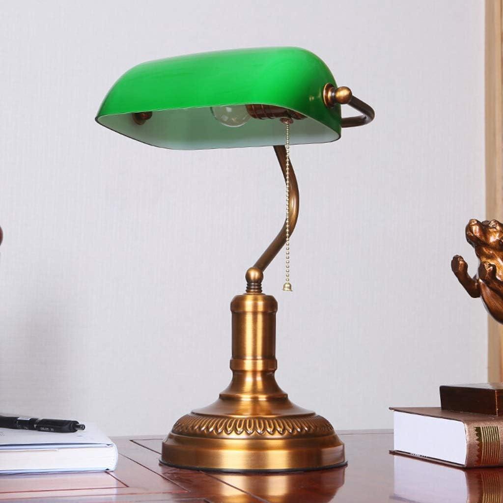 Bureau banquier Lampe de travail manuel premium en laiton Zugpendel bronze