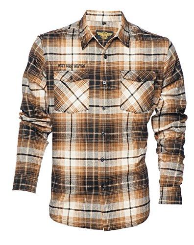 West Coast Choppers Shirt El Diablo Flannel Workshirt Brown