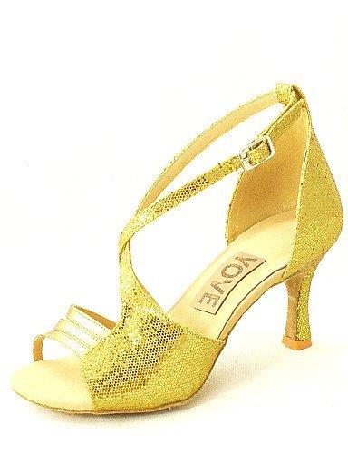 Oro Personalizzabile Argento Rosso Delle Donne Oro Latino Nero Ballo Personalizzato Da Blu Salsa Shangyi Tacco Scarpe Similpelle ZxFqZd