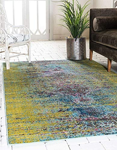 Cheap Unique Loom Vita Collection Traditional Over-Dyed Vintage Green Area Rug 10' 6 x 16' 5 living room rug for sale