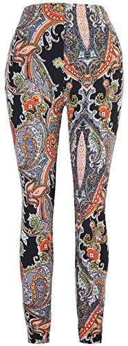 Aenlley Women's Fashion Printed Spandex Leggings - Ultra Soft Workout Legging Color Size Plus Size (Print Tights Size Plus)