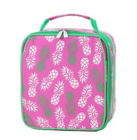 - Insulated Water Resistant Lunch Bag (Pink Pineapple)