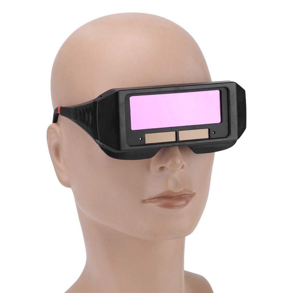 yanana Solar de oscurecimiento autom/ático de Soldadura Casco Protector de Ojos Soldador Cap Gafas M/áquina de Corte Herramientas para soldar m/áscara de Filtro de la Lente