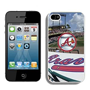 SevenArc Fashion MLB Atlanta Braves Iphone 4S Or Iphone 4 Case For MLB Fans