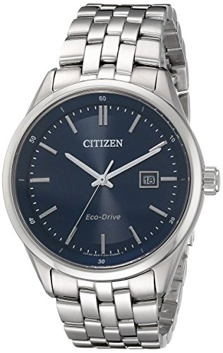 Citizen Diamond Wrist Watch - Citizen Men's Eco-Drive Stainless Steel Watch with Date, BM7251-53L