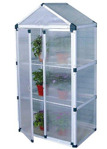 Serra in alluminio 80x50xh150 con porte per giardino balcone piante ...