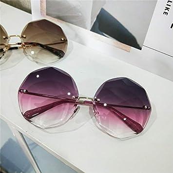 Sunyan Schneide neuen Frame Sonnenbrille super großen rahmen Persönlichkeit polygon Tinte spiegel Frau Gläser, silbernen Rahmen doppel Asche. C 56